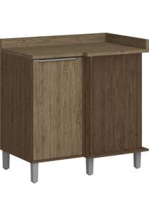 Armário De Cozinha 1 Porta Com Pé 4039P Cedro/Wood - Decibal Móveis