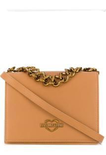 Love Moschino The New Chain Heart Crossbody Bag - Neutro