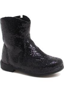 Bota Ankle Boot Zariff Shoes Glitter