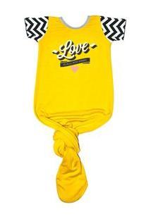 Body Pouch Love - Feminino-Amarelo