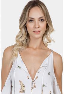 Camisa Abertura Ombros Tecido Miriade - Lez A Lez