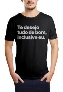 Camiseta Hunter Te Desejo Tudo De Bom Preta