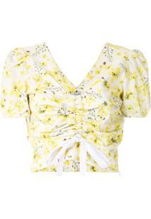 Isolda Blusa Cropped Estampada - Estampado