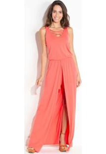 Vestido Quintess Coral Com Short