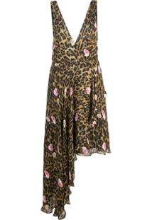 Nicole Miller Vestido Com Animal Print - Marrom
