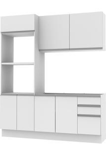 Cozinha Acordes Glamy Branco Mdf 2 Gavetas 8 Portas Madesa
