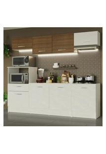 Cozinha Completa Madesa Onix 240002 Com Armário E Balcáo - Branco/Rustic 099B Branco