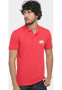 Camisa Polo Lacoste Piquet Regular Fit Print Logo Masculina - Masculino