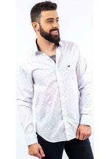 Camisa Lupim Slim Fit Branco Geo