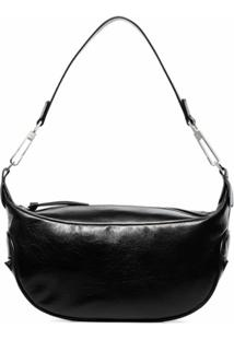 By Far Ami Leather Shoulder Bag - Preto