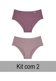 Kit Com 2 Calças Altas Delrio (50368) New Nude/Quartzo