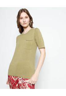 bef12abf7 Blusa Com Bolso Verde feminina | Shoelover