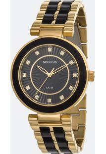 Relógio Feminino Seculus 20410Lpsvdf4 Analógico 5Atm