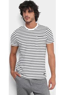 Camiseta Ellus Listras Bolso Masculina - Masculino