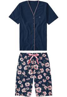 Pijama Feminino Floral Malwee Liberta