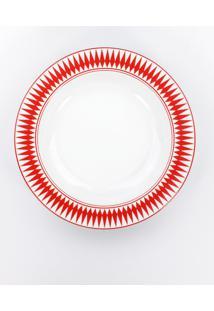 Conjunto De Pratos Fundos Porcelana Schmidt 06 Peças - Dec. Helena