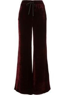 Unravel Project Calça Pantalona De Veludo - Vermelho