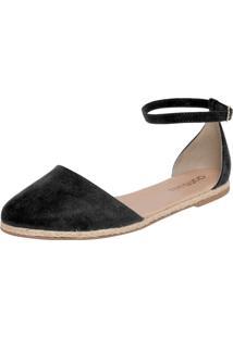 Alpargata Dafiti Shoes Camurça Xs Preto