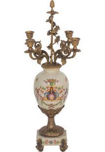 Castiçal De Porcelana Motif