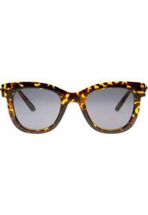 Óculos De Sol Ray Flector Piccadilly Circus Vtg527Co Feminino - Feminino-Amarelo+Preto
