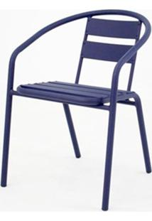 Cadeira Fun Em Aluminio Azul - 58396 - Sun House