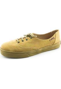 Tênis Quality Shoes Feminino 005 Camurça Caramelo Sola Caramelo 35