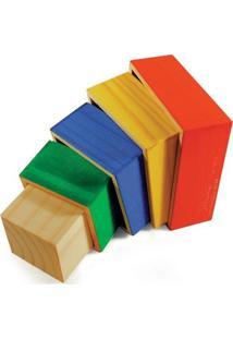 Cubos De Encaixe 5 Cubos De Madeira - Tricae