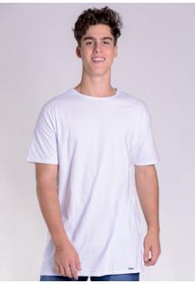 Camiseta Básica Alongada Branca
