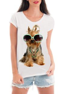 T-Shirt Criativa Urbana Rendada Pet Love6 Branco