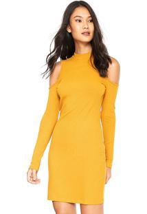 82e7abbe2 Vestido Amarelo Colcci feminino   Shoelover