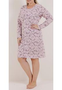 Camisola Plus Size Feminina Rosa