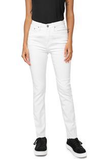 Calça Sarja Calvin Klein Jeans Slim Color Branca