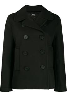 A.P.C. Double-Breasted Regular-Fit Jacket - Preto