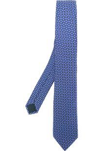 Lanvin Gravata De Seda - Azul