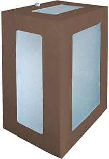 Arandela Retangular Marrom 20Cm Em Alumínio Estilo 1213 Biancoluce