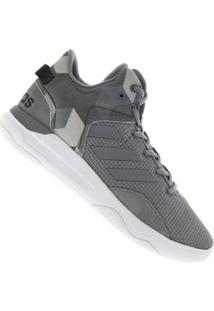 Tênis Adidas Neo Cloudfoam Revival Mid - Masculino - Cinza
