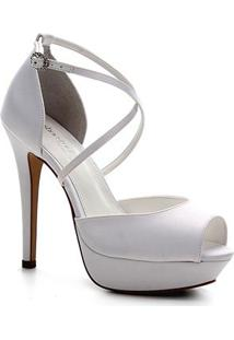 Sandália Shoestock Bride Meia Pata Cetim Feminina