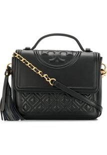 Tory Burch Diamond Quilted Cross Body Bag - Preto