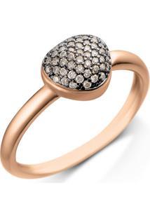 Anel Bold Ouro Vivara E Diamantes Brown Pequeno