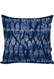 Capa Para Almofada Tie Dye- Azul Marinho & Branca- 4Stm Home