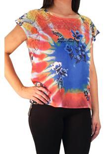 cb4682eee4 ... Blusa 101 Resort Wear Mangas Curtas Multicolorido