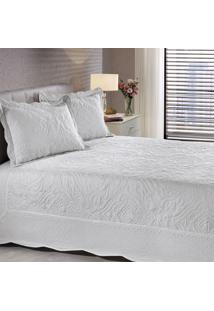 Colcha Em Matelassê Com Porta Travesseiro King Adel Branco 3 Peças - Ornare - Buettner