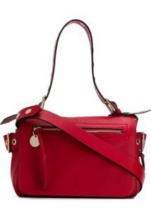 Red Valentino Bolsa Tote Com Ilhós - Vermelho