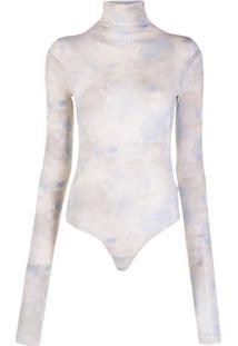 Off-White Body Com Estampa De Nuvem - Azul