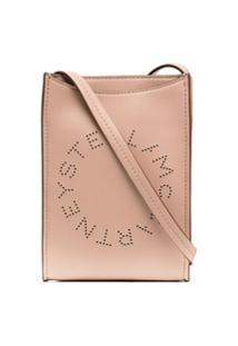 Stella Mccartney Bolsa Transversal Com Logo Perfurado - Rosa