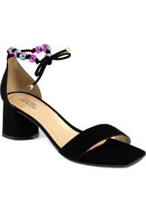 Sandália Bico Quadrado Número Grande Sapato Show 1640895