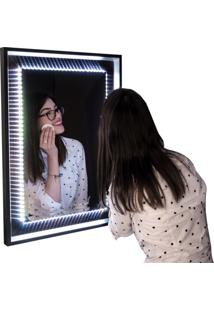 Espelho Decorativo Led 40X60 Cm Preto