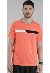 Camiseta Ace Basic Dry Com Recorte Coral