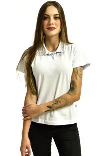 Camiseta Rich Young Pólo Básica Lisa Manga Curta Branca