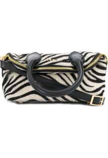 Sacai Bolsa Mini Com Estampa De Zebra - Branco